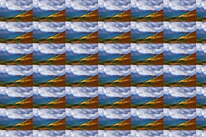 Vinylová Tapeta Podzimní Alpské louky - Nebe