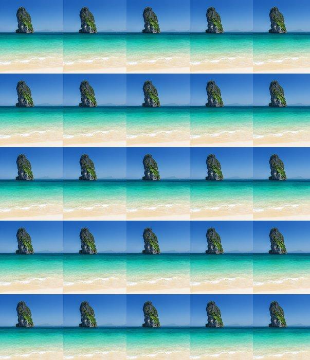 Vinylová Tapeta Čistá voda a modrá obloha. Phra Nang Beach, Thajsko - Asie