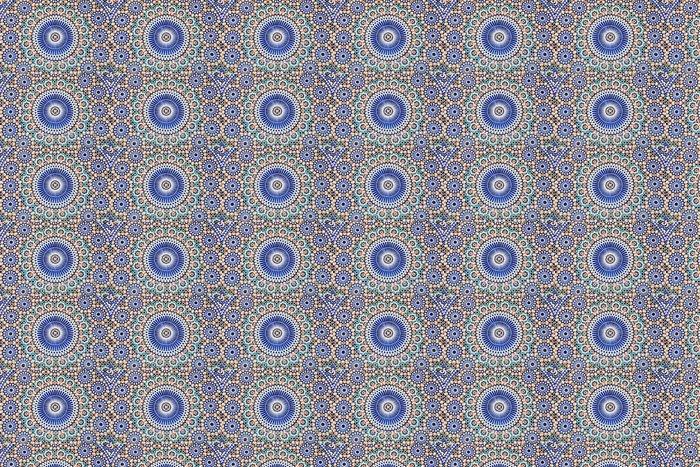 Vinylová Tapeta Orientální mozaika v Maroku, Severní Africe - Mozaika