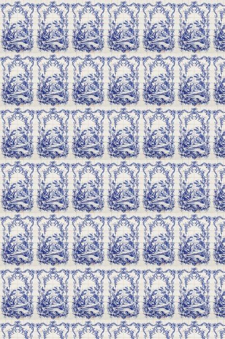 """Vinylová Tapeta """"Azulejo"""" portugalské tradiční ručně malované umění dlaždice - Čas"""