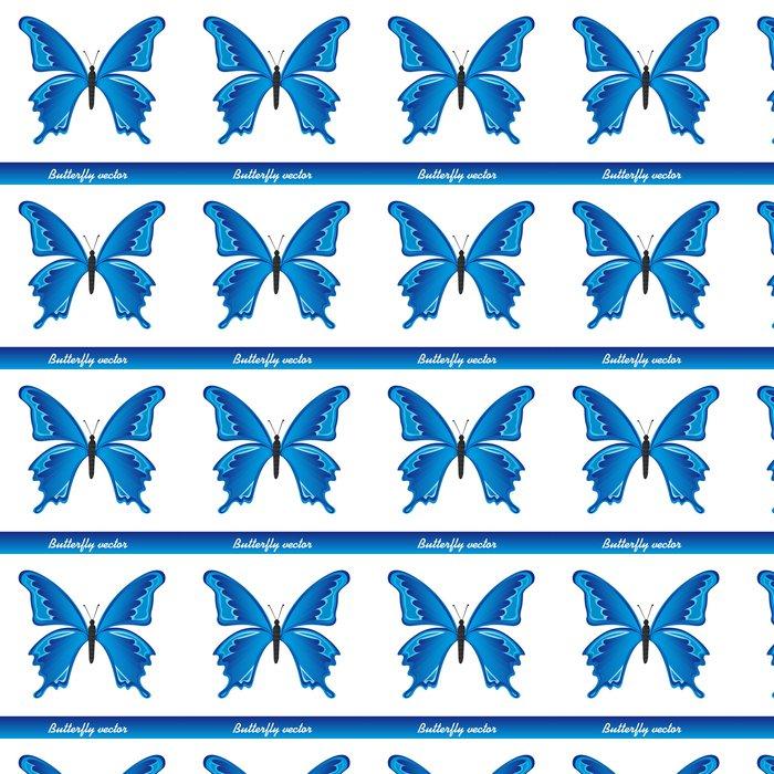 Vinylová Tapeta Blue Butterfly - Jiné objekty