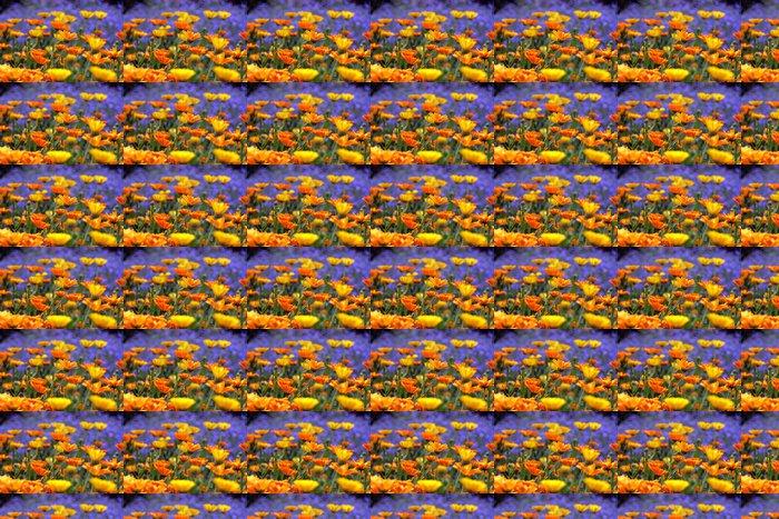Vinylová Tapeta Rozkvetlá zahrada - Květiny