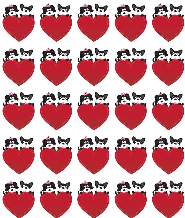 Vinylová Tapeta Valentine štěňata vektor - Mezinárodní svátky