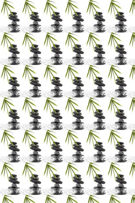 Vinylová Tapeta Piedras Zen con Bambu y Agua - Životní styl, péče o tělo a krása