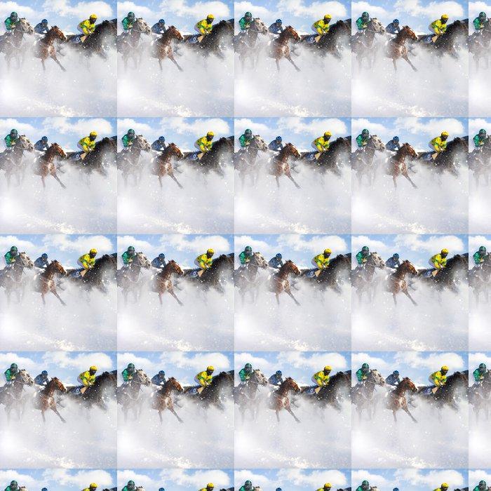 Vinylová Tapeta Cval na sněhu - Individuální sporty