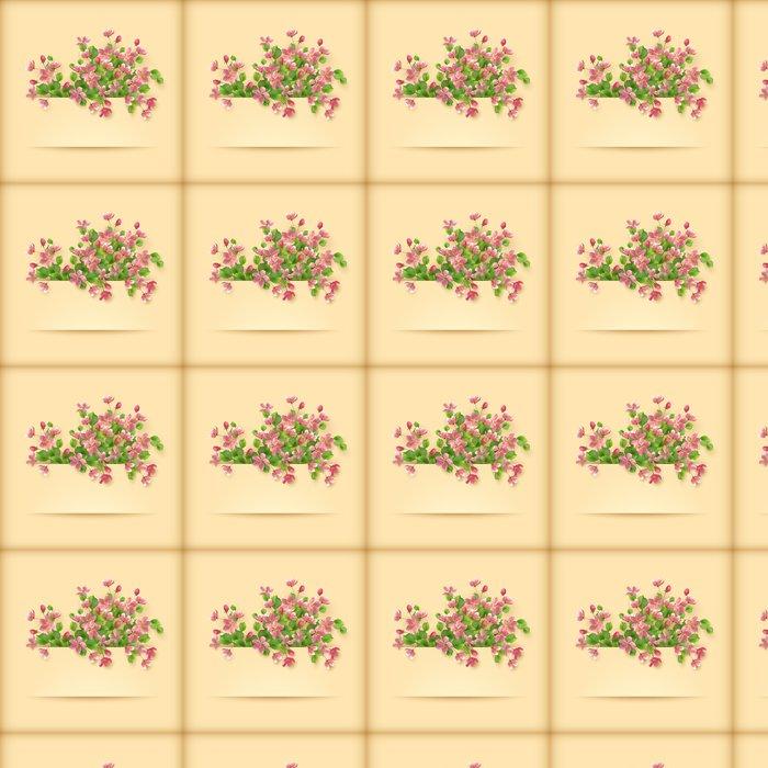 Vinylová Tapeta Květinová přání růžové třešňový květ květiny - Štěstí