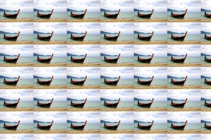 Vinylová Tapeta Člun na pláži - Roční období