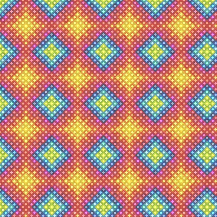 Vinylová Tapeta Vzorek z barevných čtverečků - Pozadí