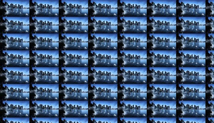 Vinylová Tapeta Singapur město v době západu slunce - Témata