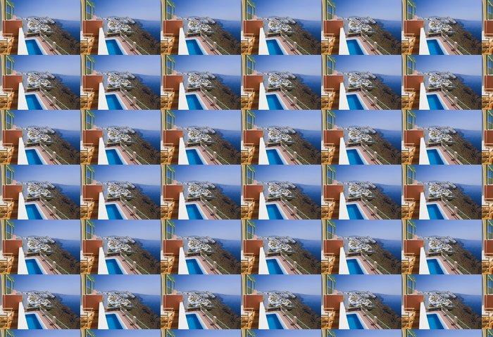 Vinylová Tapeta Santorini View - Řecko - Prázdniny