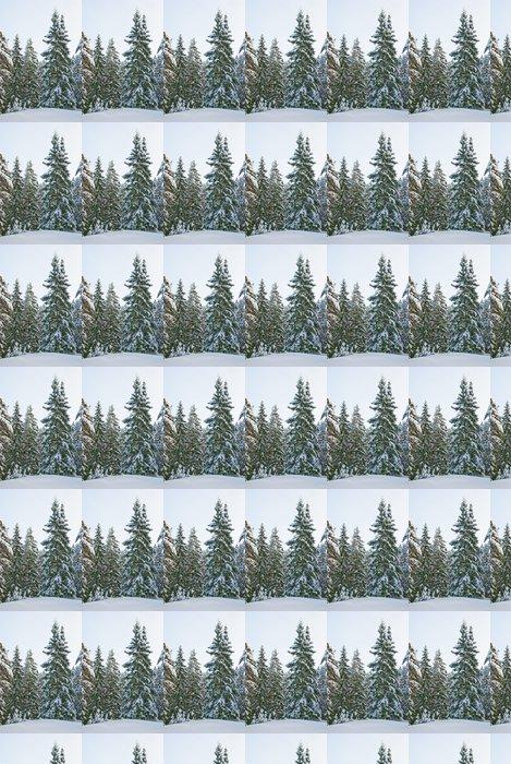 Papier Peint à Motifs Vinyle Winter forest - Forêt