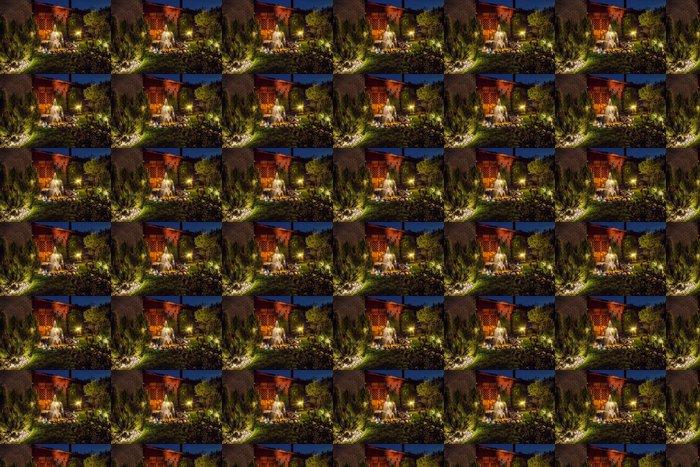 Vinylová Tapeta Garden ve večerních - Domov a zahrada