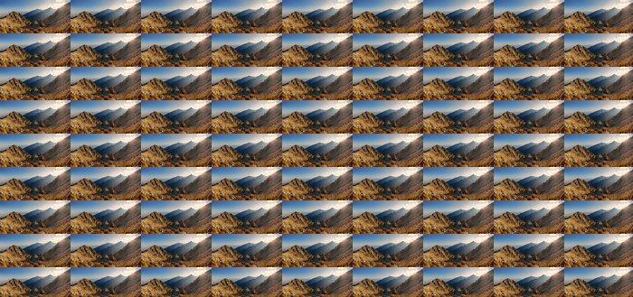 Vinylová Tapeta Západ slunce v horách pohled z Lomnické sedlo ve Vysokých Tatrách, Slo - Hory