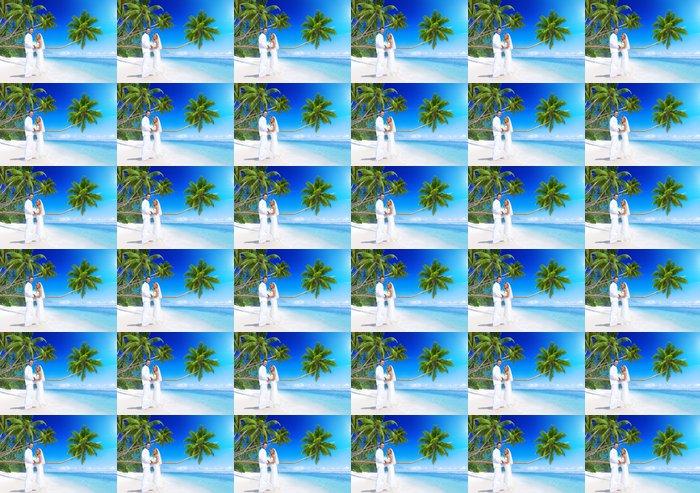 Vinylová Tapeta Pár vdává na pláži - Páry