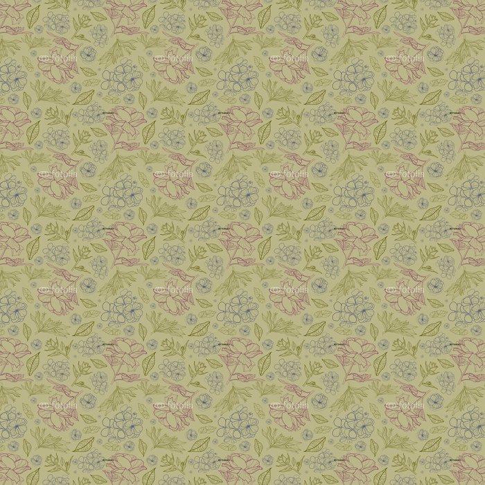 Vinylová Tapeta Květinový vzor botanika - Pozadí