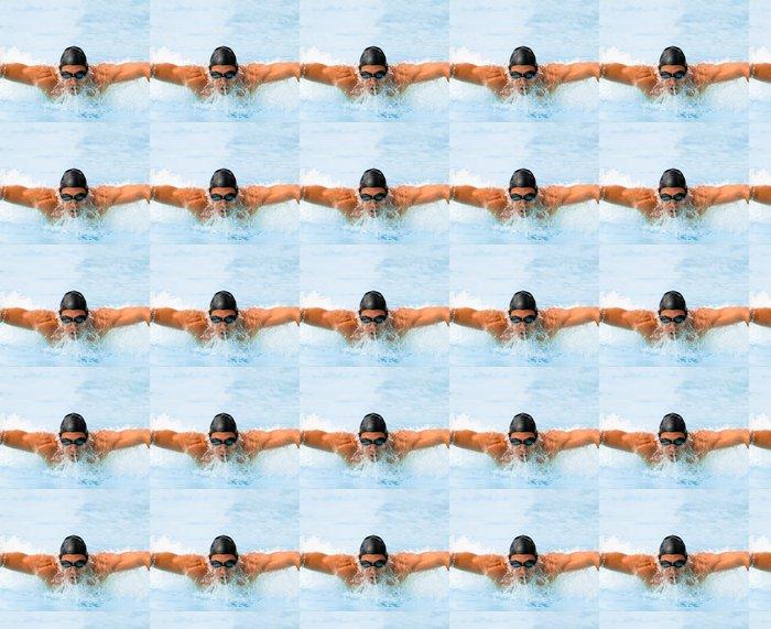 Vinylová Tapeta Butterfly Plavání - Individuální sporty