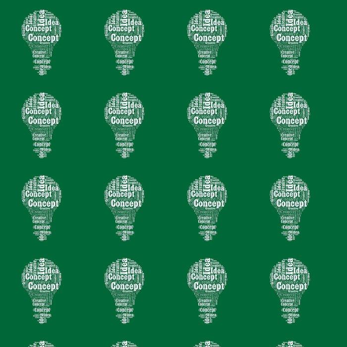 Vinylová Tapeta Koncept žárovky Slovo mrak typografie textu slovo art vektor Illustra - Prvky podnikání