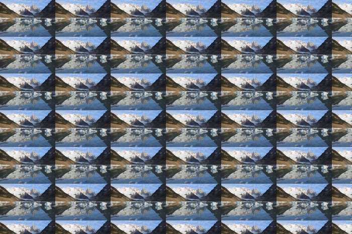 Papier Peint à Motifs Vinyle Cerro Torre montagne. Parc National Los Glaciares. - Amérique