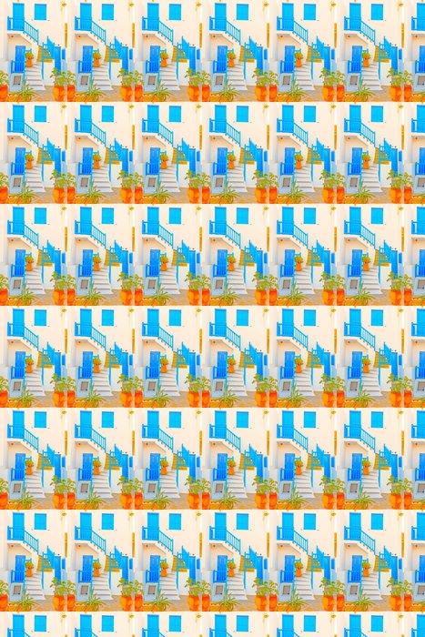 Vinylová Tapeta Řecko, hrnce na schodech zobrazit v hlavním městě Mykonos - Evropa