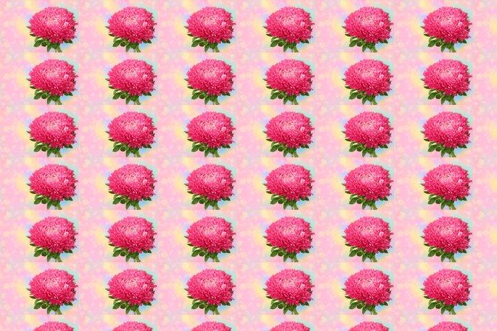 Vinylová Tapeta Pink aster - Roční období
