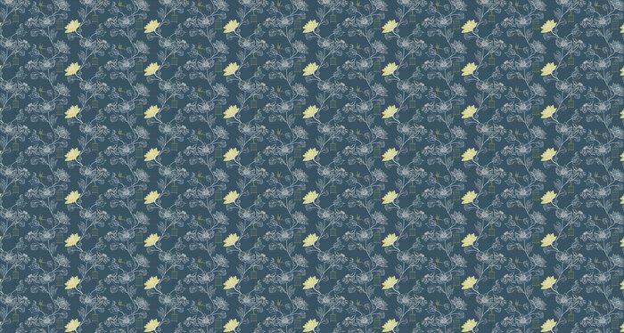 Vinylová Tapeta Vzor na pozadí s květinami a klece - Pozadí