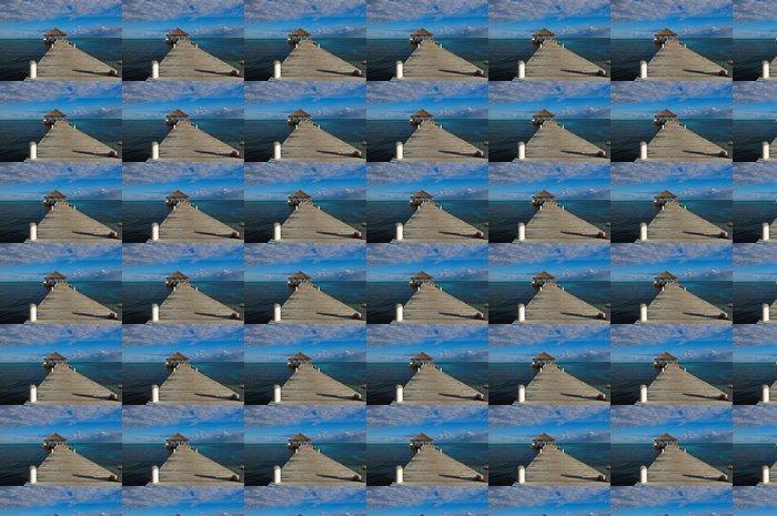 Vinylová Tapeta Pláž Deck s Palapa plovoucí ve vodě - Amerika