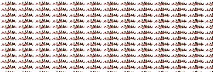 Papier Peint à Motifs Vinyle Chien et chat et kitens portant un chapeau de père Noël - Mammifères