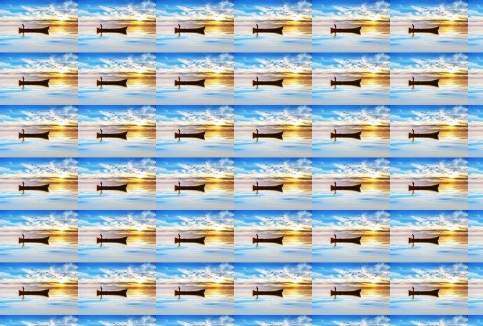 Vinylová Tapeta Pescando entre las Nubes de colores - Outdoorové sporty