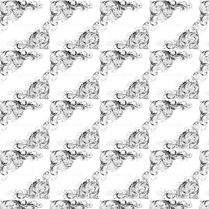 Vinylová Tapeta Abstraktní květinové roh konstrukce - Květiny