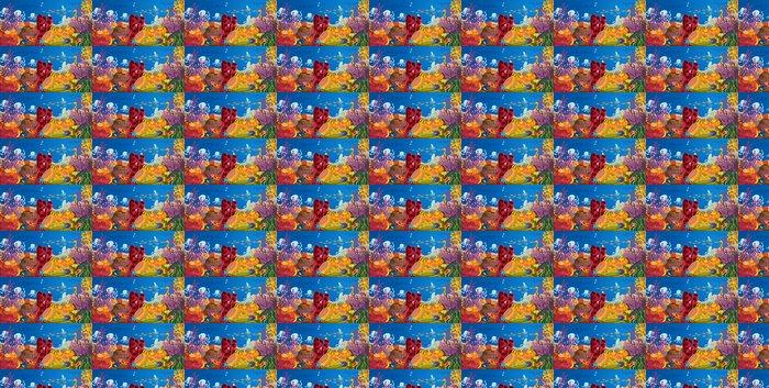 Vinylová Tapeta Chobotnice a korálů ve vodě - Voda