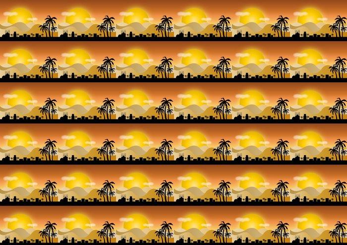 Vinylová Tapeta Tag in der Wüste - Pouště