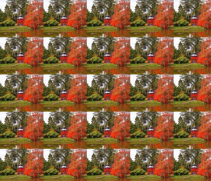 Vinylová Tapeta Podzim v japonském stylu zahrady - Domov a zahrada