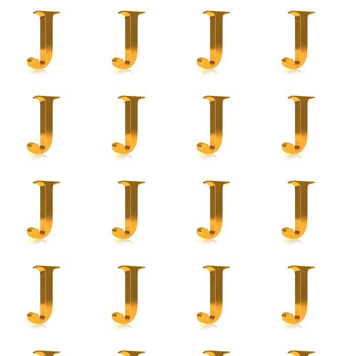 """Vinylová Tapeta 3d Gold písmeno """"J"""" - Značky a symboly"""