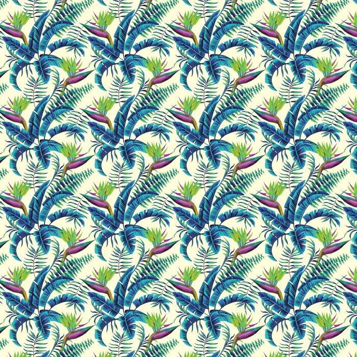 Vinylová Tapeta Tropických exotické malba bezproblémové pozadí -