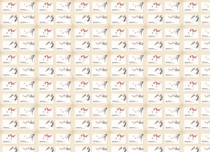 Vinylová Tapeta Dárkové karty - Stromy