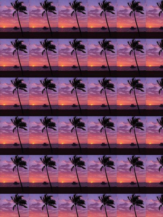 Vinylová Tapeta 夕陽 と ヤ シ の 木 の シ ル エ ッ ト - Prázdniny
