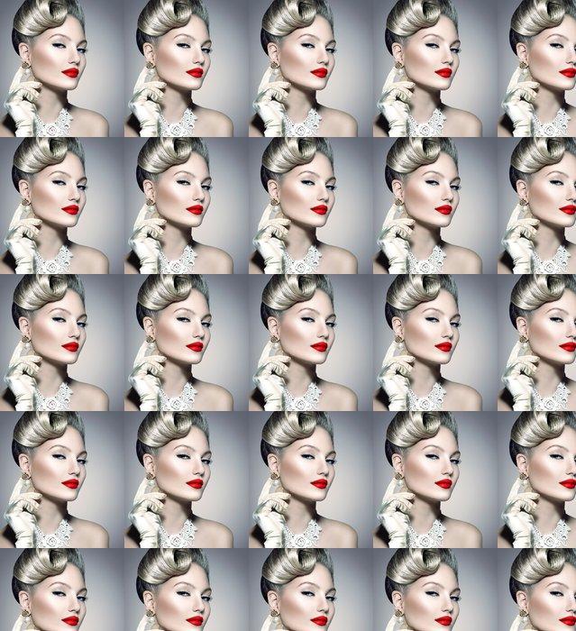 Vinylová Tapeta Retro stylu Beauty Lady Portrait - Žena