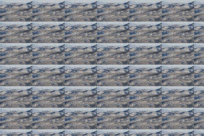 Vinylová Tapeta Snowy lesní krajina - Roční období