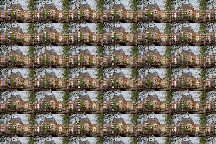 Vinylová Tapeta Amsterdam pohled s mostem a typické holandské domy - Infrastruktura