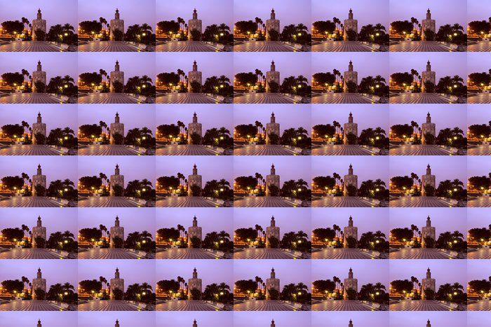 Vinylová Tapeta Torre del Oro - Zlatá věž v Seville - Evropa