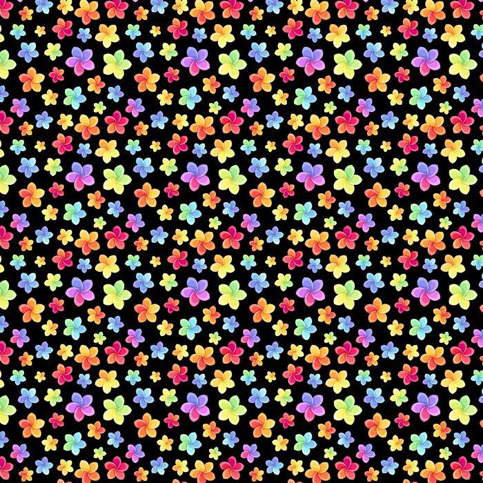 Vinylová Tapeta Bezešvé vzor s barevnými květy. Vektorové ilustrace. - Květiny