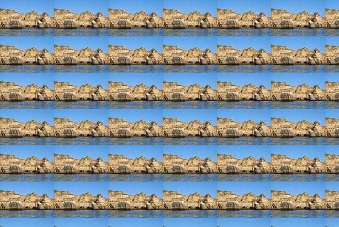 Vinylová Tapeta Jeskyně v útesech žluté v Lagos v Algarve v Portugalsku - Evropa