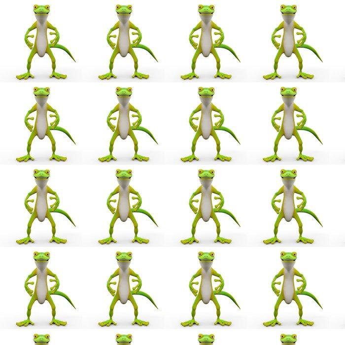 Vinylová Tapeta Gecko karikatura sem - Ostatní Ostatní