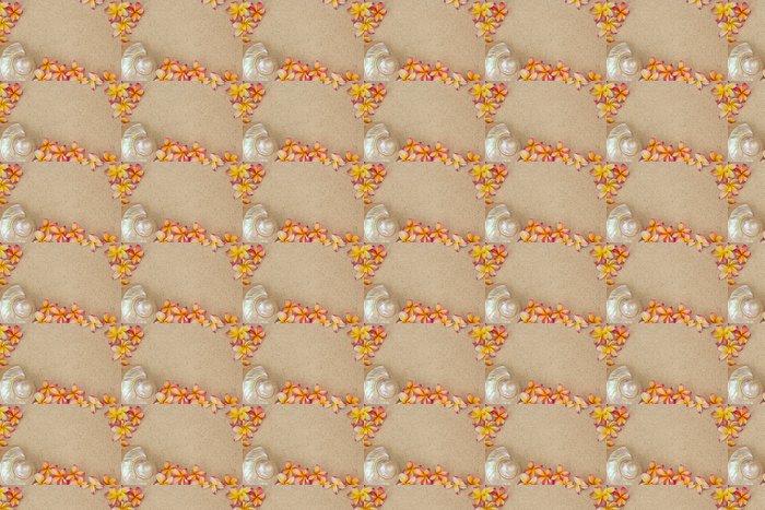 Vinylová Tapeta Keře květiny a velké mušle na písku - Květiny