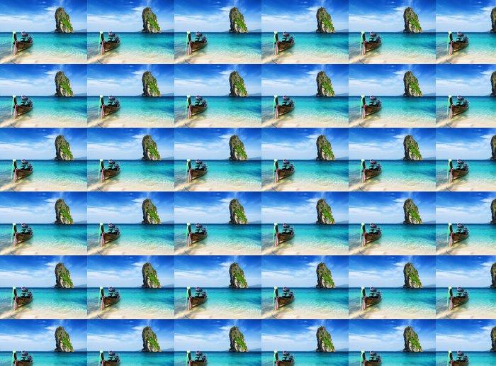 Papier Peint à Motifs Vinyle L'eau claire et ciel bleu - Asie
