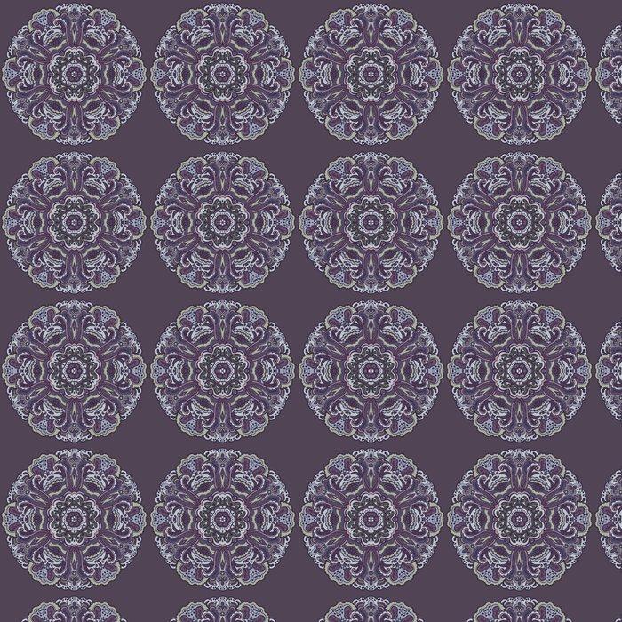 Vinylová Tapeta Abstrakt kolo okrasné. květinový vzor - Pozadí
