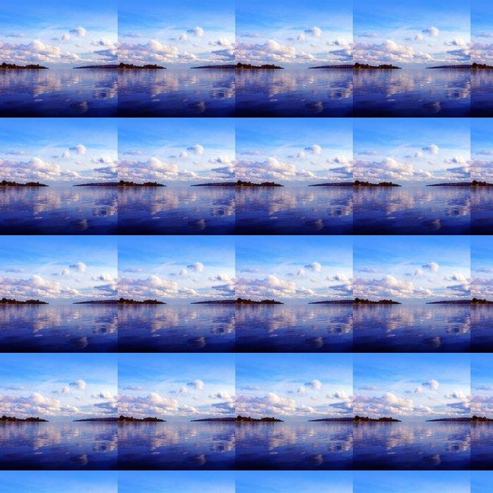 Vinylová Tapeta Západ slunce na řece - Nebe