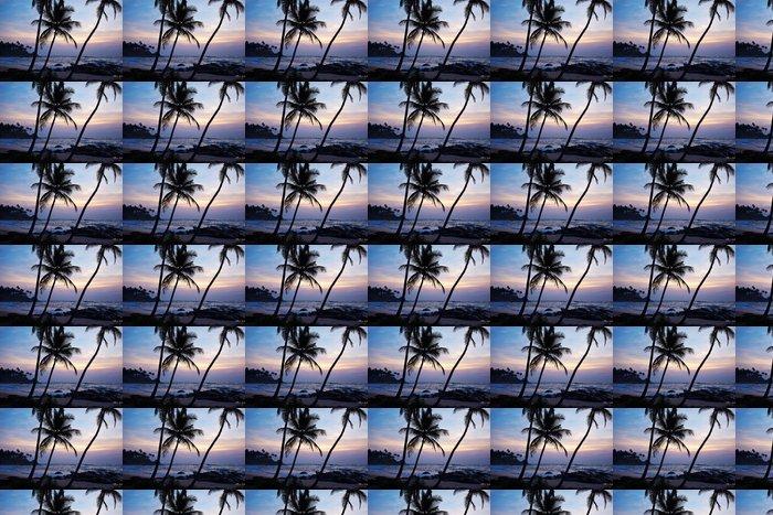 Vinylová Tapeta Modré slunce a palmy. Srí Lanka pláž - Asie