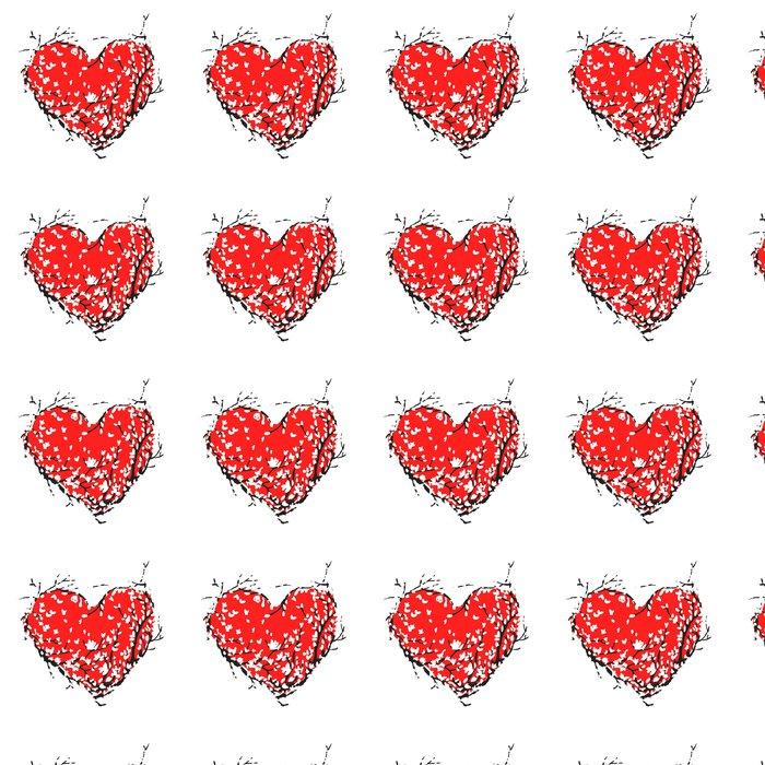 Vinylová Tapeta Valentine červené srdce z sakura strom pro svůj design - Mezinárodní svátky