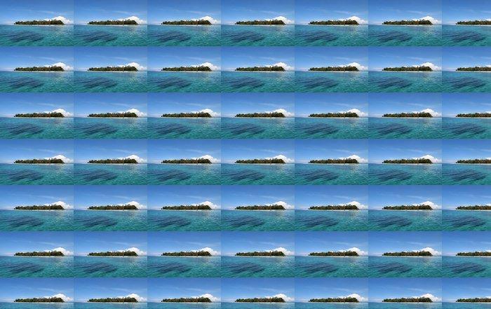 Vinylová Tapeta Panorama na tropickém ostrově - Prázdniny